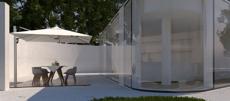 Which factors influence the price and quality difference for a parasol?