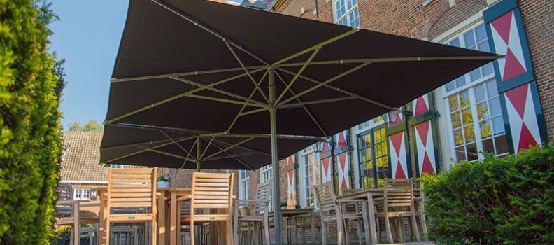 How do I choose the correct commercial parasol for my terrace?